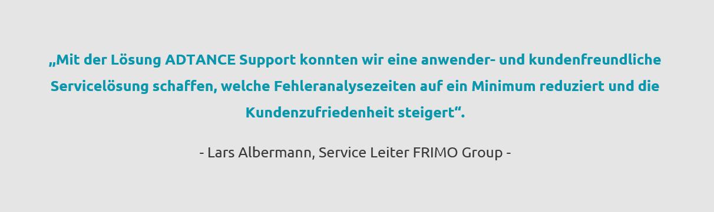 Zitat Lars Albermann Frimo